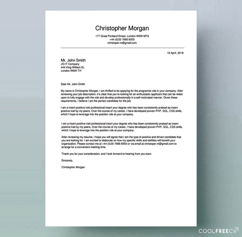 to write cover letter for job examples sample resume free example warrant officer Resume Download Sample Cover Letter For Resume