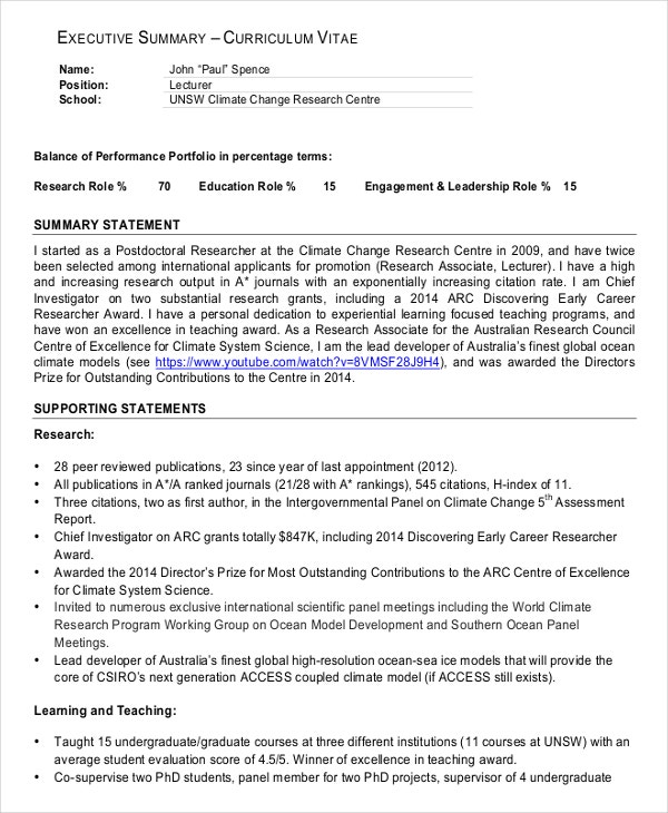 to write executive summary in cv the art of writing great resume statement example Resume Executive Summary Of Resume Example