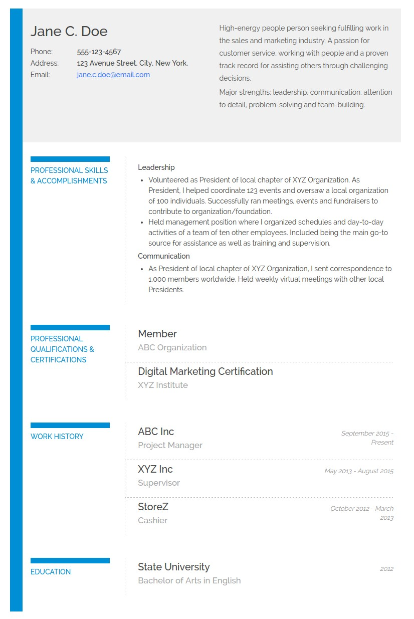 to write functional or skills based resume with an example resumonk blog ascii sample Resume Skills Based Resume Example