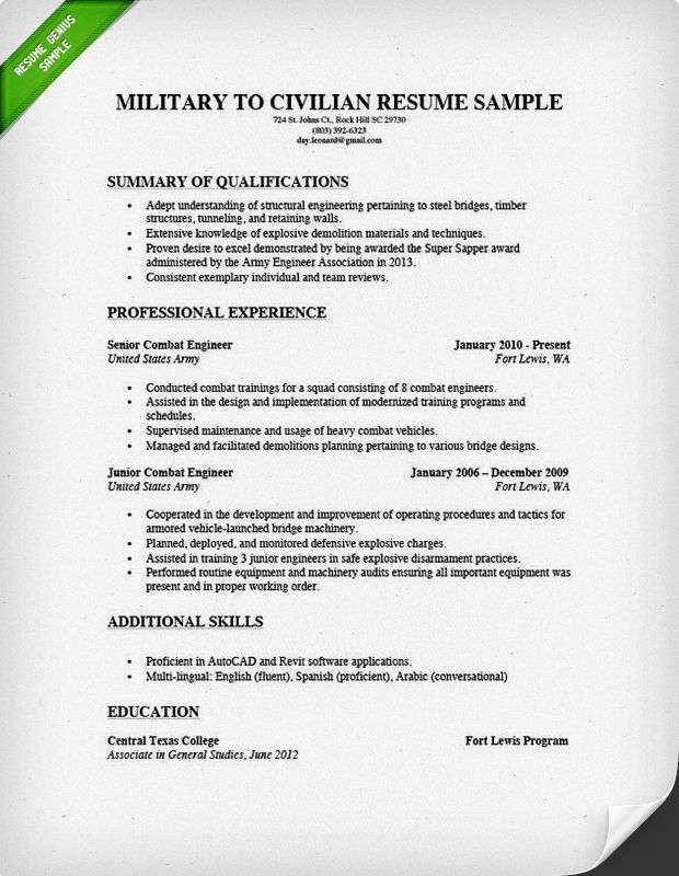 to write military civilian resume genius examples sample retired templates emailing and Resume Retired Military Resume Templates
