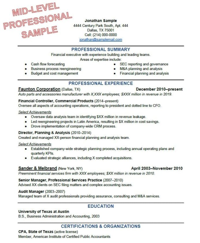 to write the perfect resume based on your years of experience best format for job Resume Best Resume Format For Job Interview