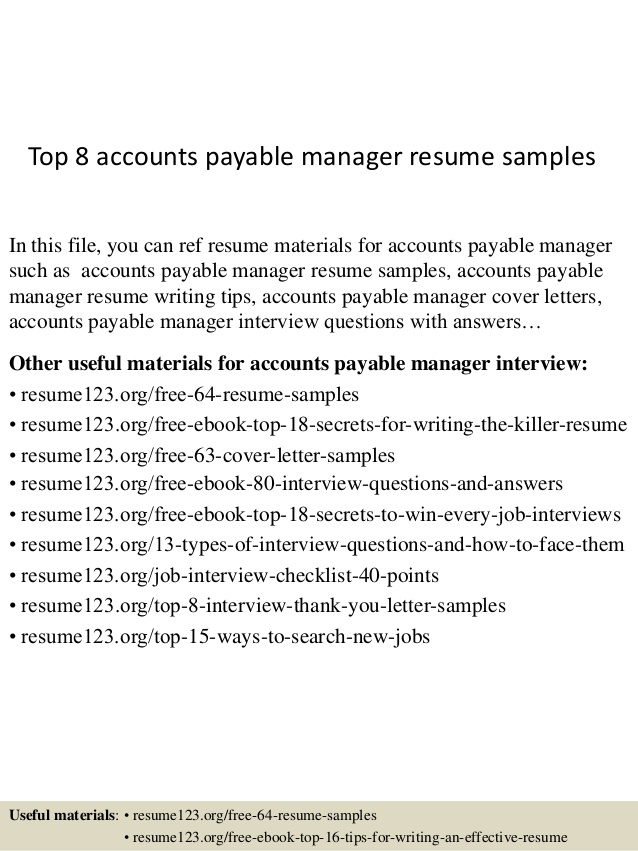 top accounts payable manager resume samples react native developer ucsd example Resume Accounts Payable Manager Resume