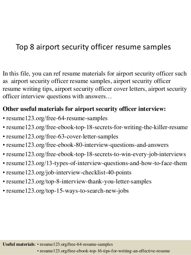 top airport security officer resume samples objective recruiter does need cover letter Resume Airport Security Resume Objective
