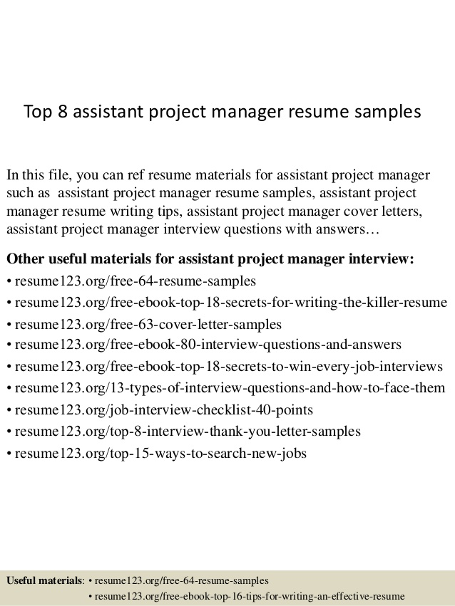 top assistant project manager resume samples cover letter program graduate school Resume Assistant Project Manager Resume Cover Letter
