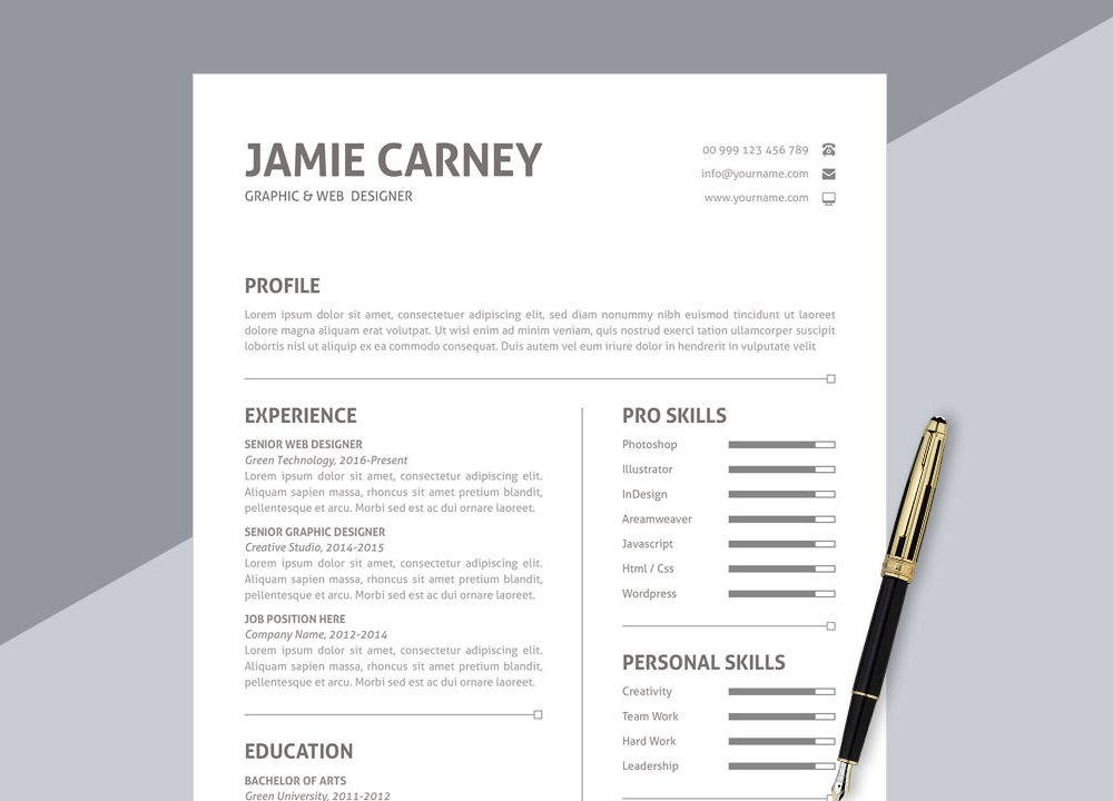 top best free resume templates to in webthemez with photo simple format ms word 1000x720 Resume Free Resume Templates 2020 With Photo