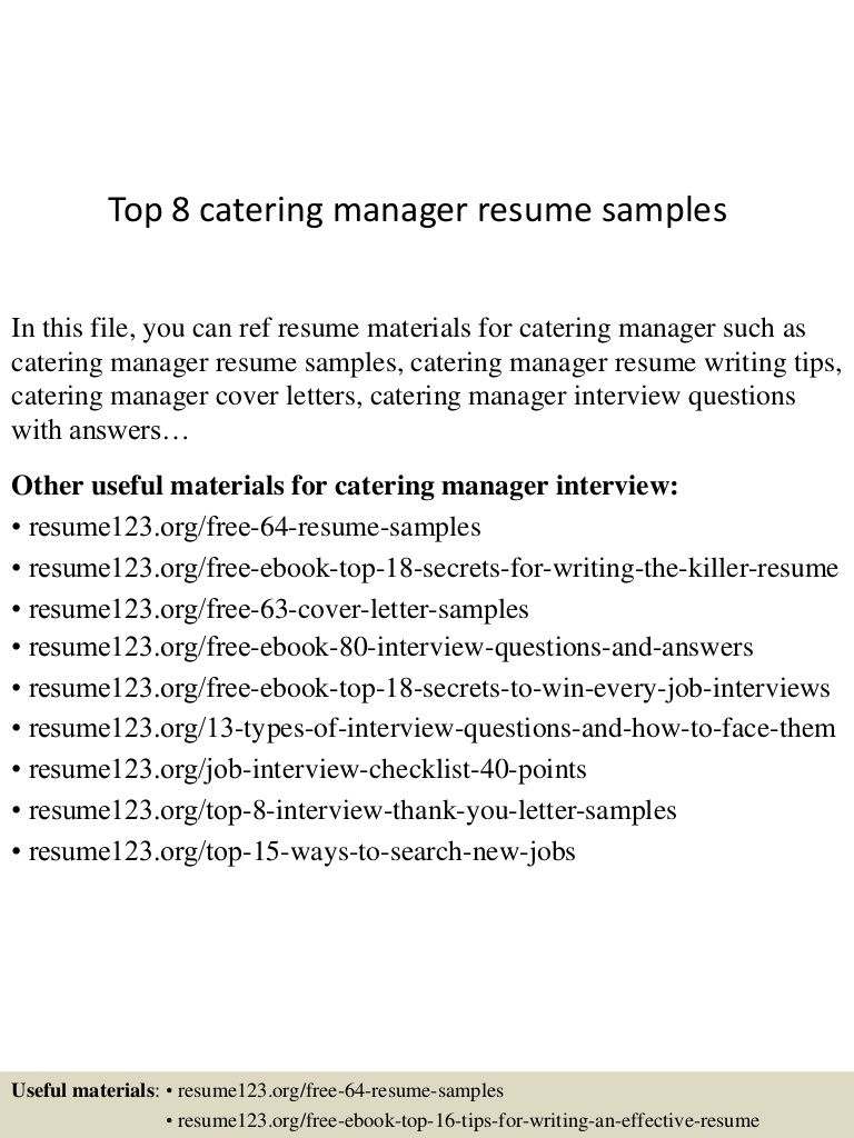 top catering manager resume samples top8cateringmanagerresumesamples conversion gate01 Resume Catering Manager Resume