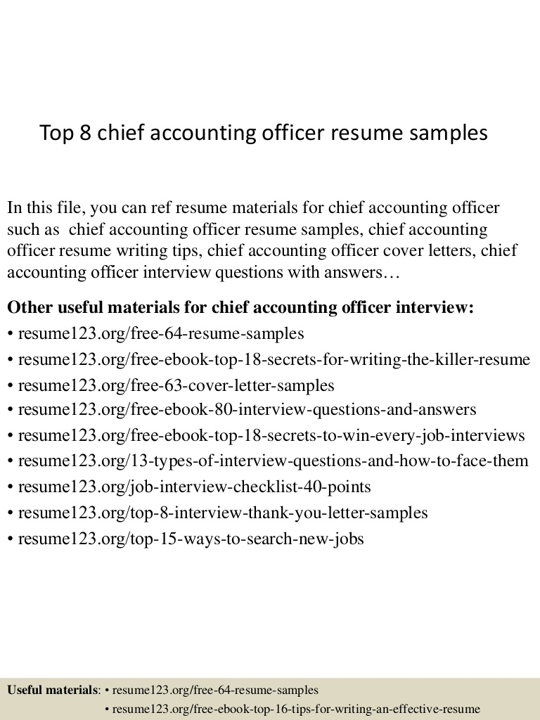 top chief accounting officer resume samples top8chiefaccountingofficerresumesamples lva1 Resume Chief Accounting Officer Resume