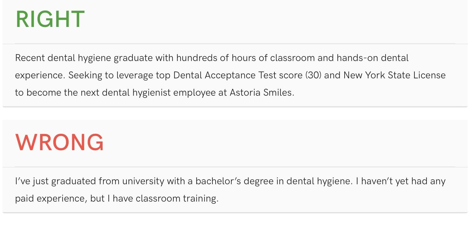 top dental resume samples pro writing tips oral health group new graduate hygienist Resume New Graduate Dental Hygienist Resume