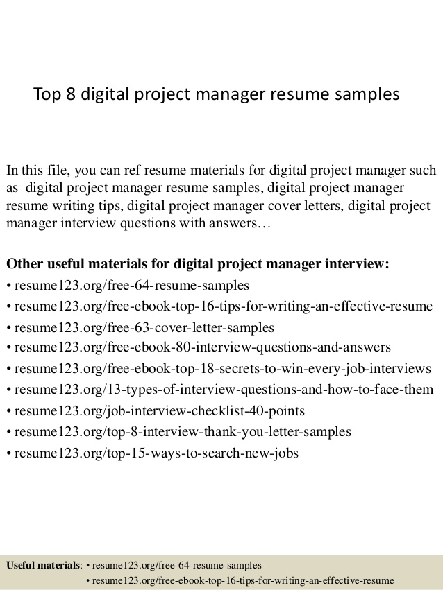 top digital project manager resume samples marketing personal trainer mba application Resume Digital Marketing Project Manager Resume