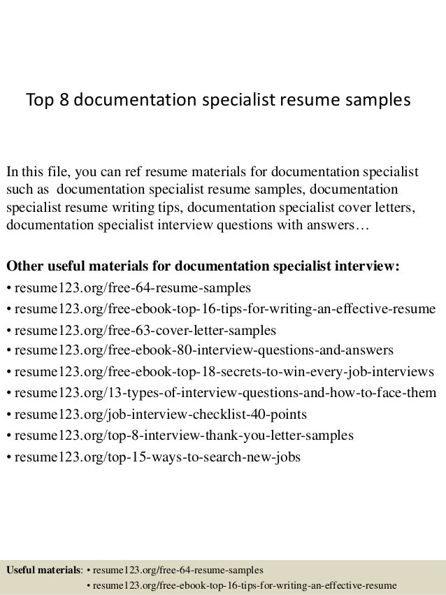 top documentation specialist resume samples document sample federal template word Resume Document Specialist Resume Sample