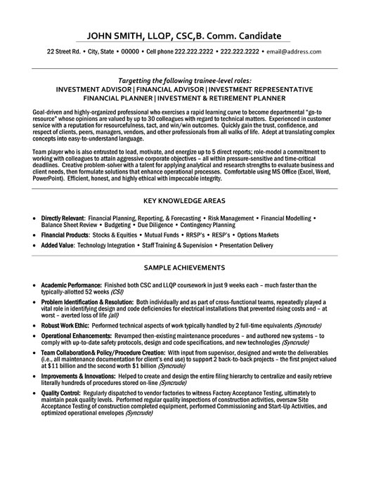top finance resume templates samples bank financial advisor professional investment Resume Bank Financial Advisor Resume
