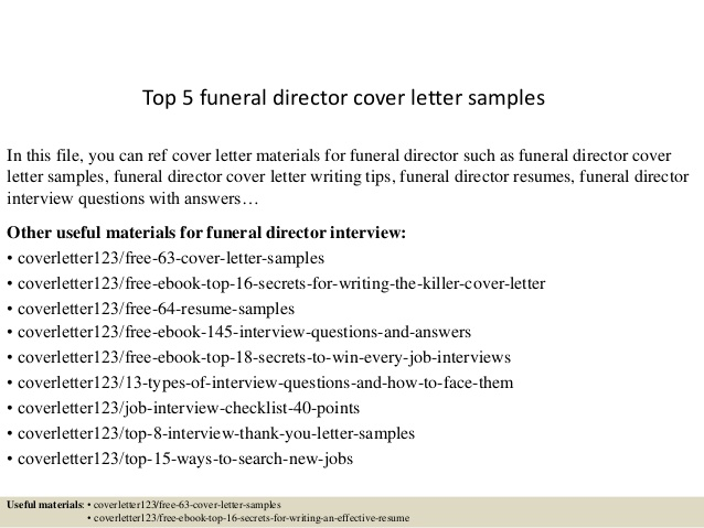 top funeral director cover letter samples resume or nurse examples best software engineer Resume Funeral Director Resume
