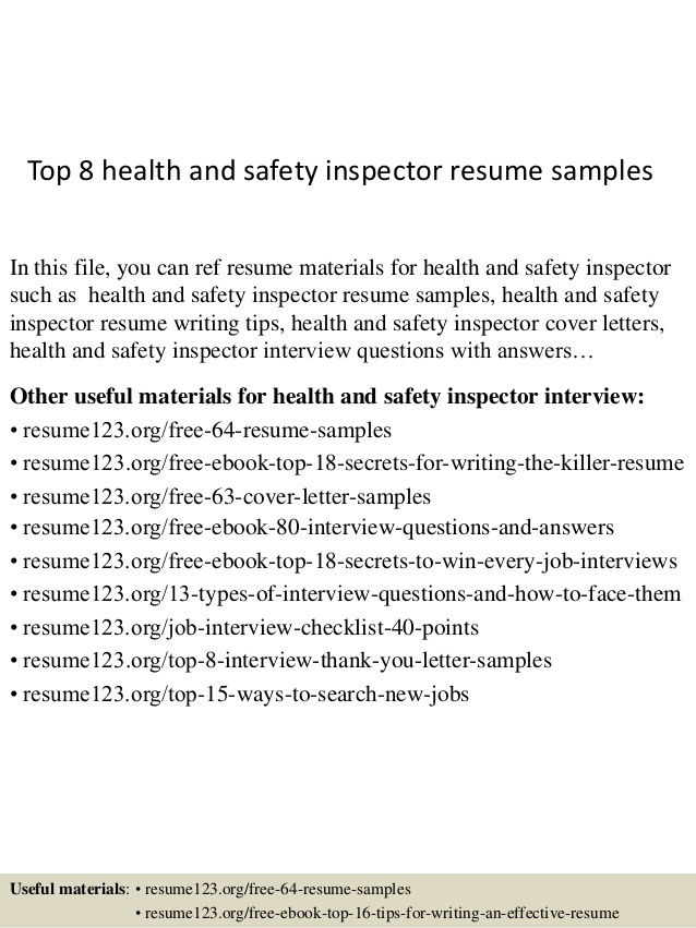 top health and safety inspector resume samples objective examples program assistant Resume Inspector Resume Objective Examples