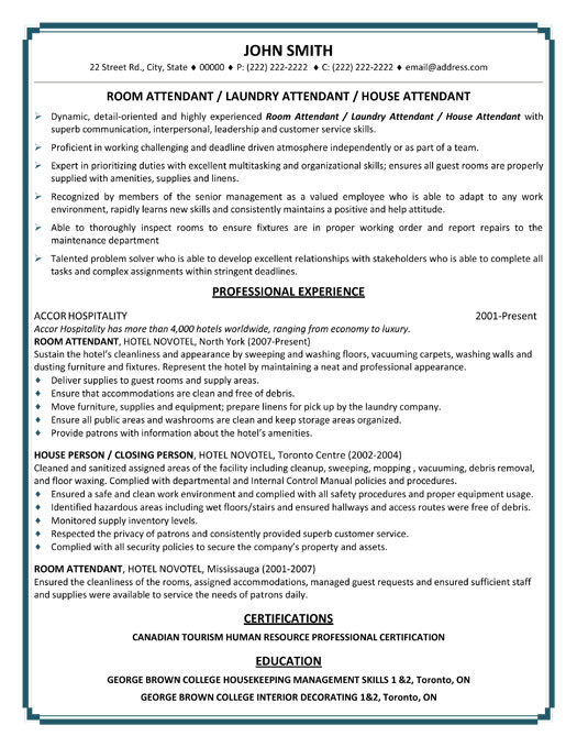 top hospitality resume templates samples for and tourism hp professional room laundry Resume Resume Samples For Hospitality And Tourism