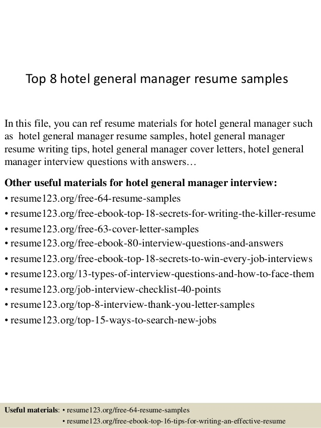 top hotel general manager resume samples examples volunteer example putting together Resume General Manager Resume Examples