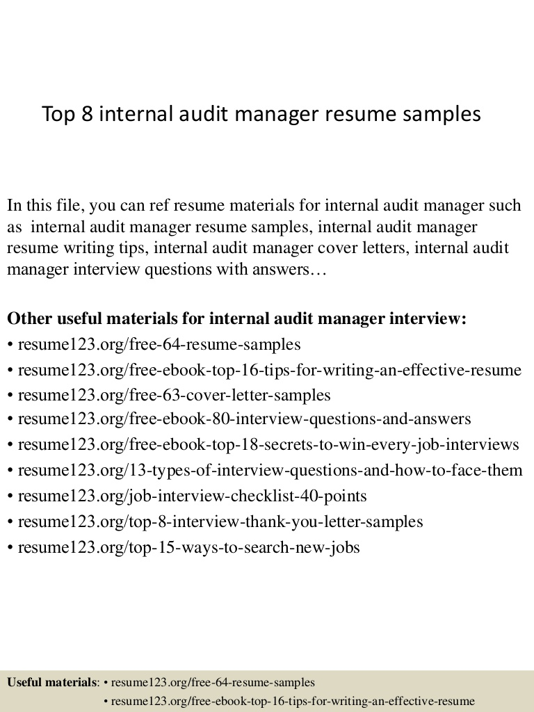 top internal audit manager resume samples director of Resume Director Of Internal Audit Resume
