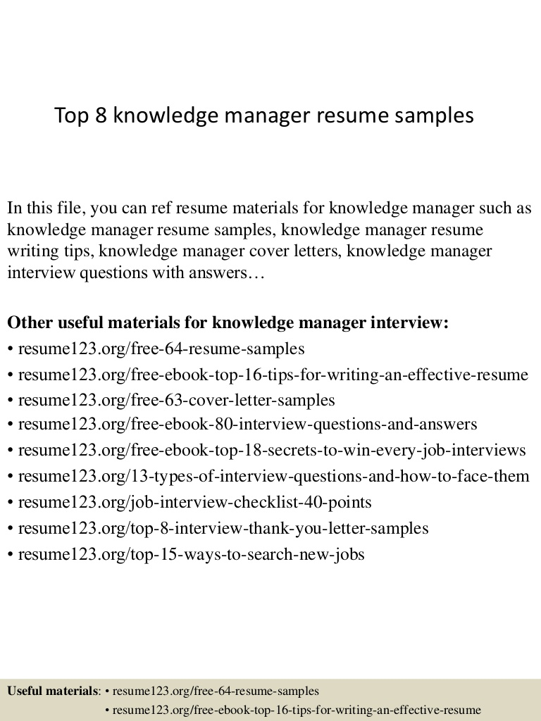 top knowledge manager resume samples management sample top8knowledgemanagerresumesamples Resume Knowledge Management Resume Sample