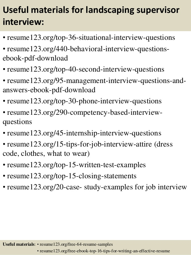 top landscaping supervisor resume samples landscape scholarship examples indeed example Resume Landscape Supervisor Resume