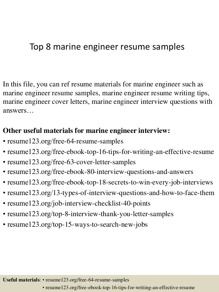 top marine engineer resume samples of experienced engineers Resume Resume Of A Experienced Marine Engineers