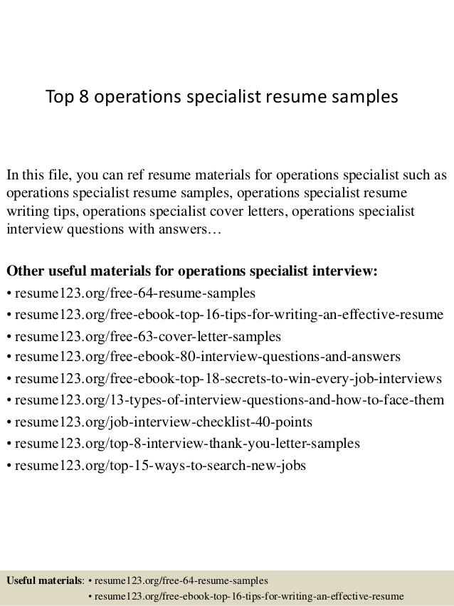 top operations specialist resume samples business directions ready format word templates Resume Business Operations Specialist Resume