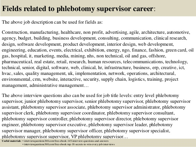 top phlebotomy supervisor interview questions and answers resume oracle r12 functional Resume Phlebotomy Supervisor Resume