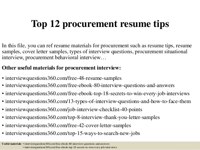 top procurement resume tips keywords for effective freshers does your need address Resume Keywords For Procurement Resume