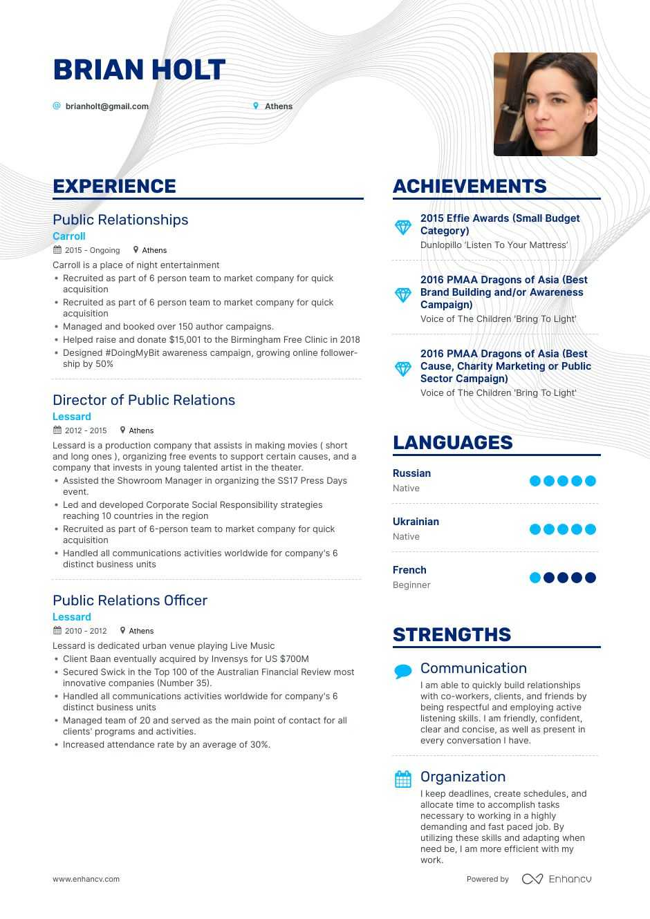 top public relations resume examples samples for enhancv skills hairdresser have someone Resume Public Relations Skills Resume