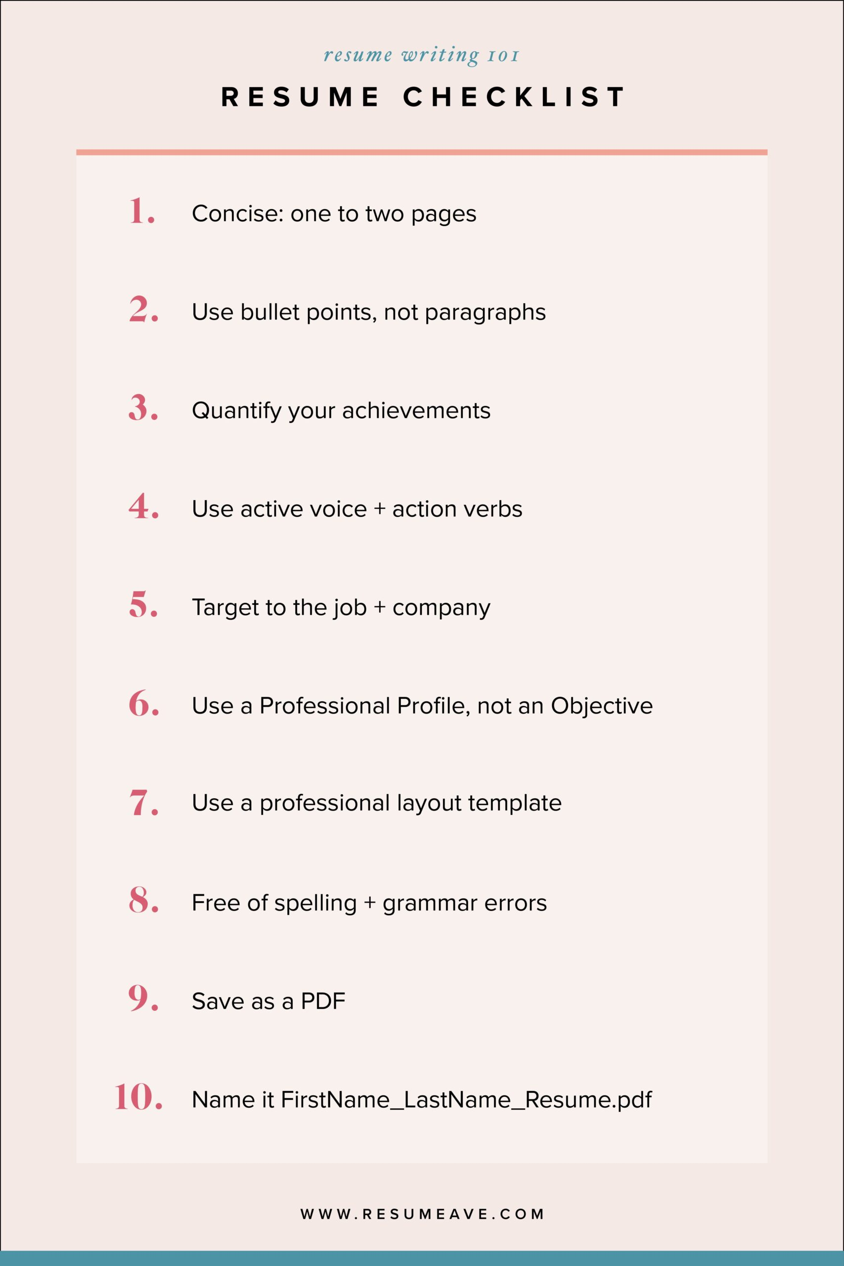 top resume writing tips checklist for indeed review entry level mental health prep Resume Checklist For Resume Writing