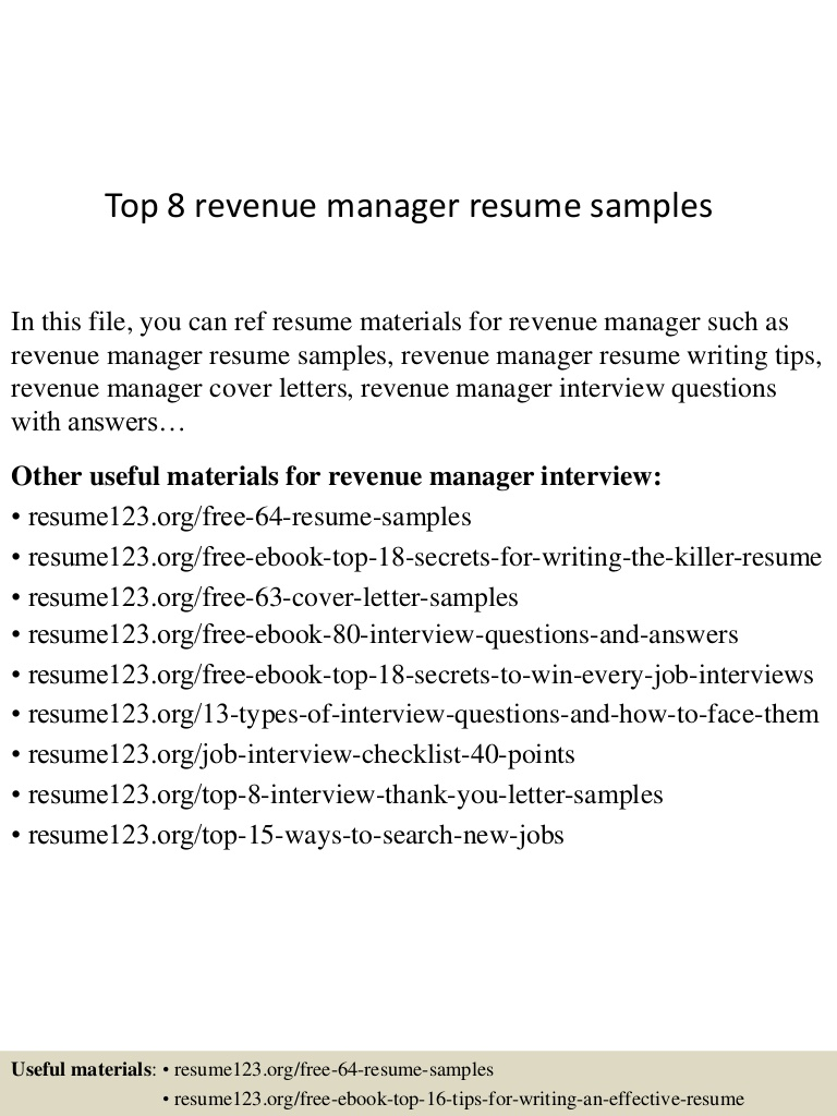 top revenue manager resume samples examples top8revenuemanagerresumesamples conversion Resume Revenue Manager Resume Examples