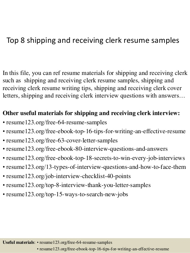 top shipping and receiving clerk resume samples description for carpenter clerical Resume Shipping And Receiving Description For Resume