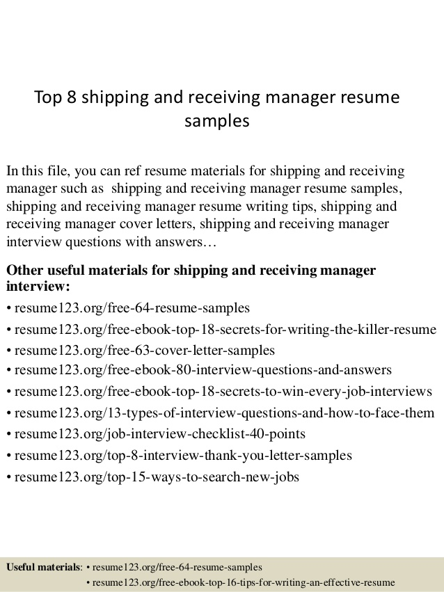 top shipping and receiving manager resume samples treasurer functional vs chronological Resume Shipping And Receiving Resume
