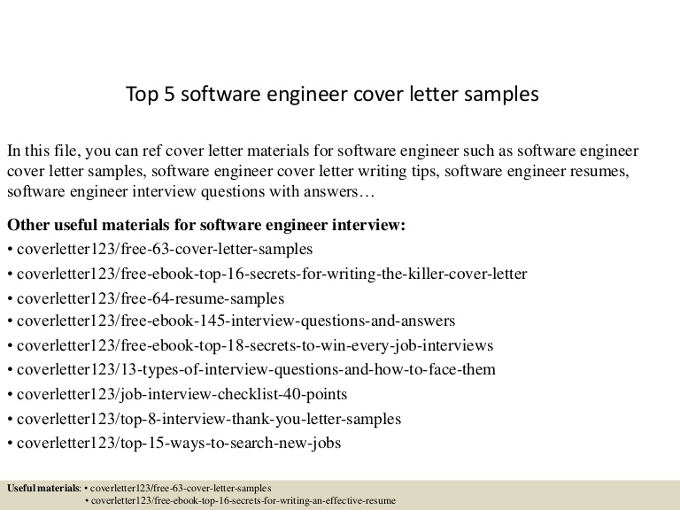 top software engineer cover letter samples resume sample for Resume Resume Cover Letter Sample For Software Engineer