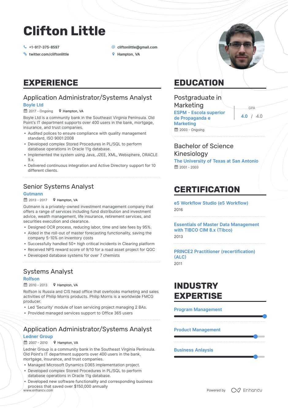 top systems analyst resume examples samples for enhancv system example hub introductory Resume System Analyst Resume Example