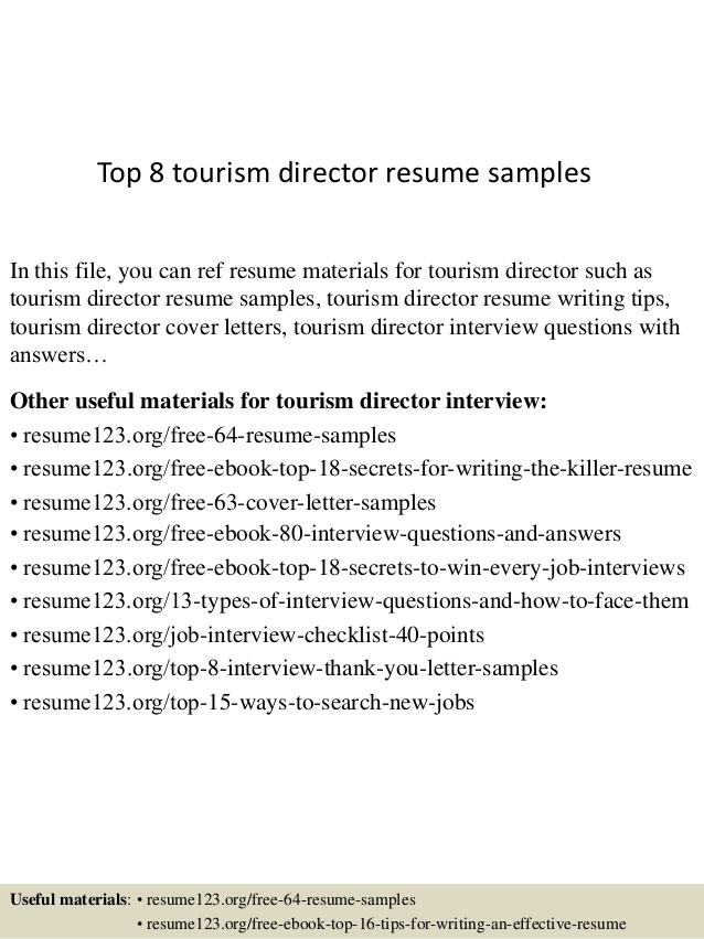top tourism director resume samples information technology examples ucsf talent inc Resume Director Resume Samples