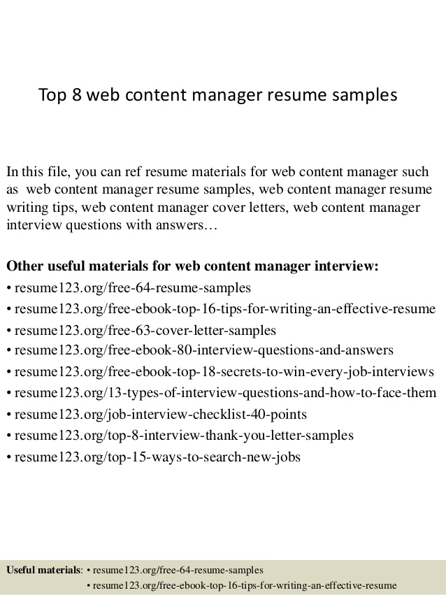 top web content manager resume samples recent high school graduate another word for Resume Web Content Manager Resume