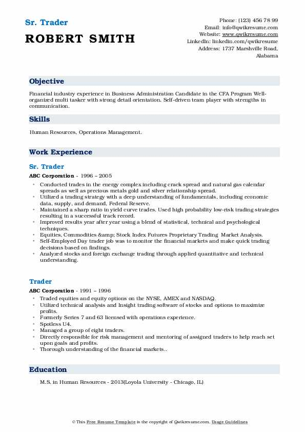 trader resume samples qwikresume foreign exchange trading pdf good summary for warehouse Resume Foreign Exchange Trading Resume
