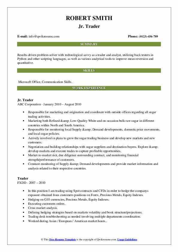 trader resume samples qwikresume foreign exchange trading pdf software testing for year Resume Foreign Exchange Trading Resume