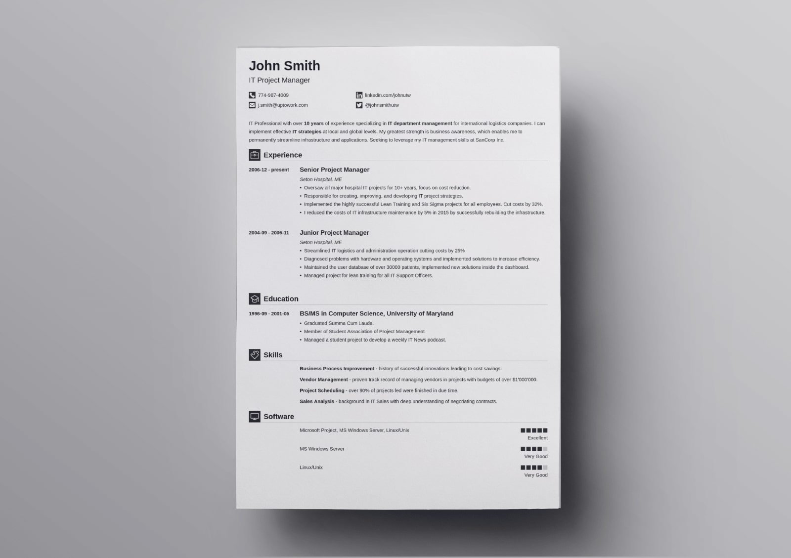 traditional resume template classic examples chronological design iconic bachelor of Resume Chronological Resume Traditional Design