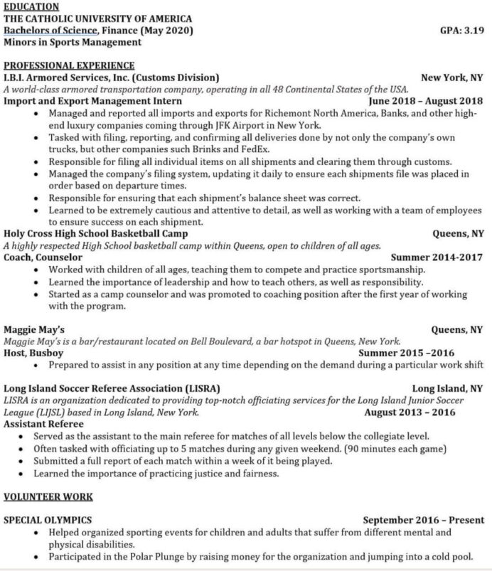 tricks to hack your investment banking resume with no experience template too long1 Resume Investment Banking Resume Template