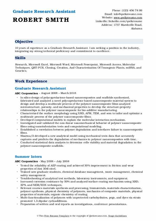 undergraduate research assistant resume for position graduate pdf sample multiple Resume Resume For Research Position