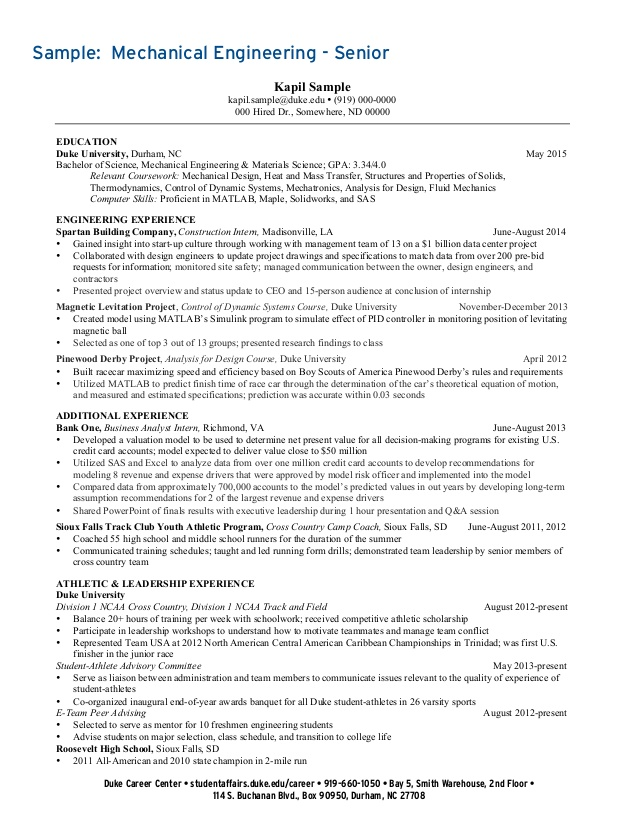 undergraduate student resume collection duke athlete help uwo graduate school objective Resume Duke Student Athlete Resume