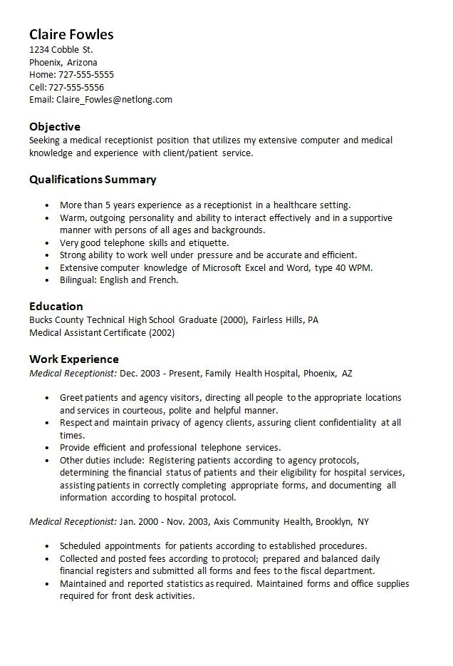 unforgettable receptionist resume examples to stand out myperfectresume objective Resume Receptionist Resume Objective Statement