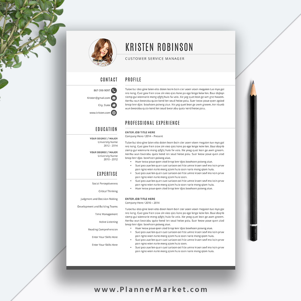 unique resume template cv simple design cover letter word instant the kristen Resume Resume Templates For Word 2020