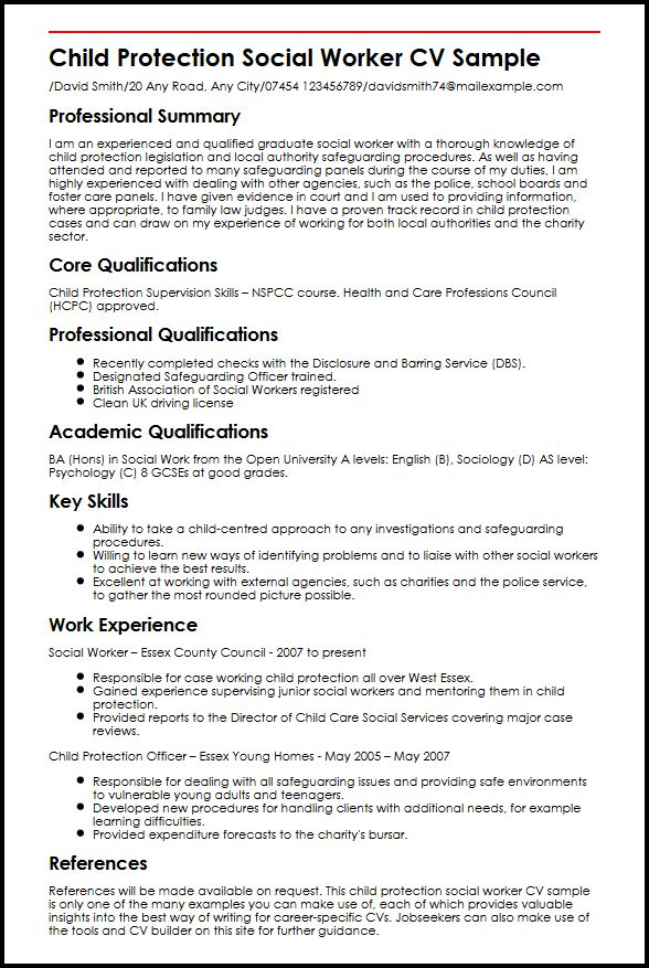 use our child protection social worker cv example resume for community service sample Resume Resume For Community Service Worker