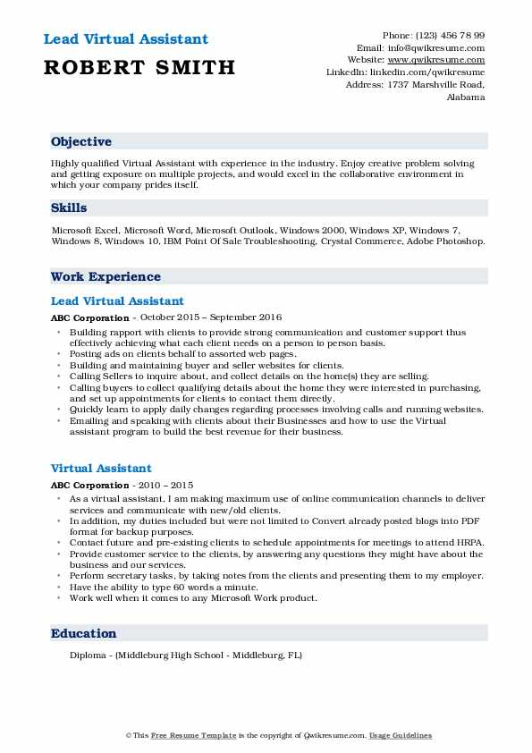 virtual assistant resume samples qwikresume personal job duties for pdf best word font Resume Personal Assistant Job Duties For Resume