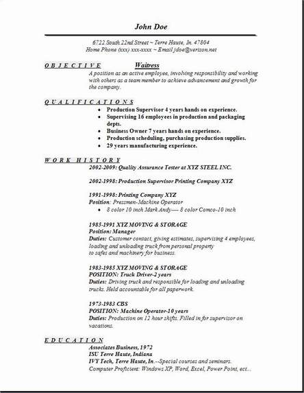 waitress resume examples samples free edit with word sample server responsibilities look Resume Sample Server Resume Responsibilities