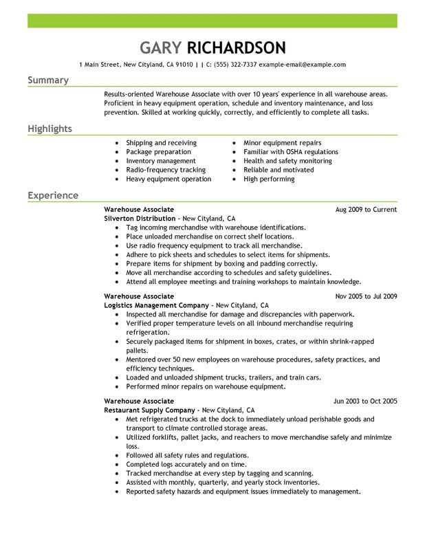 warehouse worker resume examples sample resumes good job entry level objective rstudio Resume Entry Level Warehouse Resume Objective