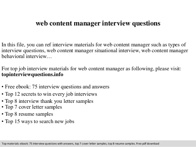web content manager interview questions resume beautiful builder medtronic blank form Resume Web Content Manager Resume
