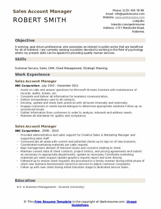 account manager resume samples qwikresume pdf ats scannable examples tips for college Resume Sales Account Manager Resume