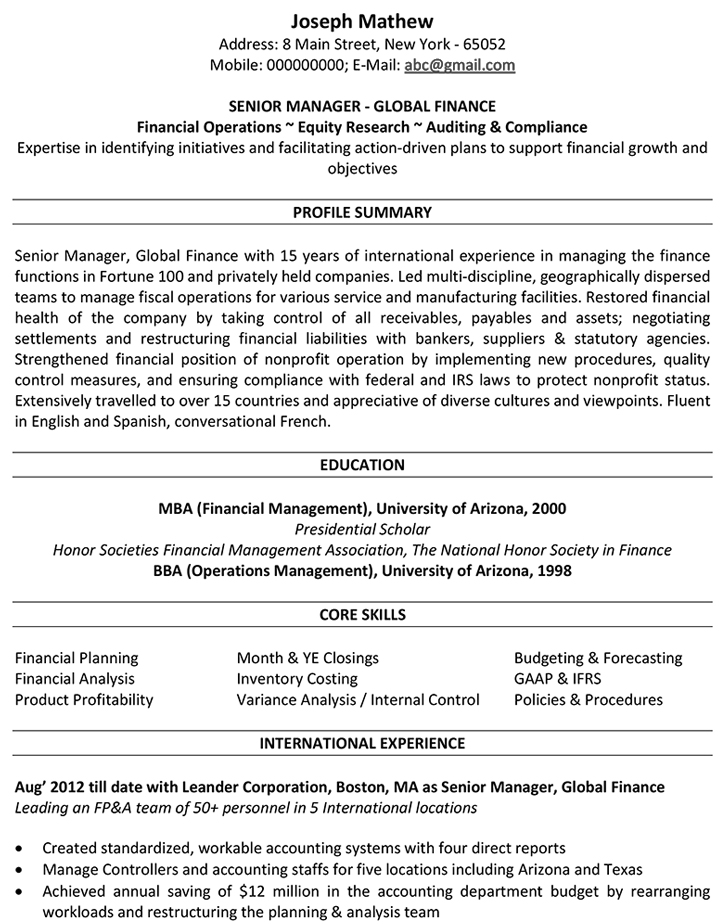 accountant cv format resume sample and template latest for international modern design Resume Latest Resume Format For Accountant